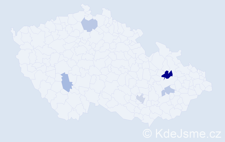 Příjmení: 'Kruta', počet výskytů 8 v celé ČR