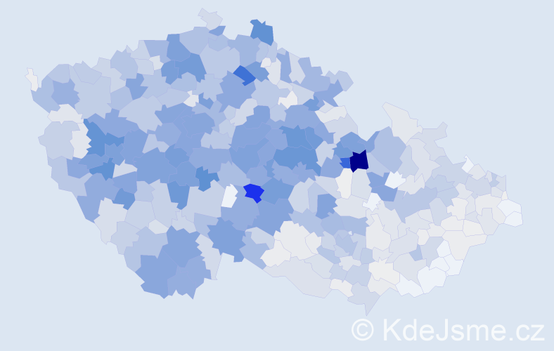 Příjmení: 'Beran', počet výskytů 4825 v celé ČR