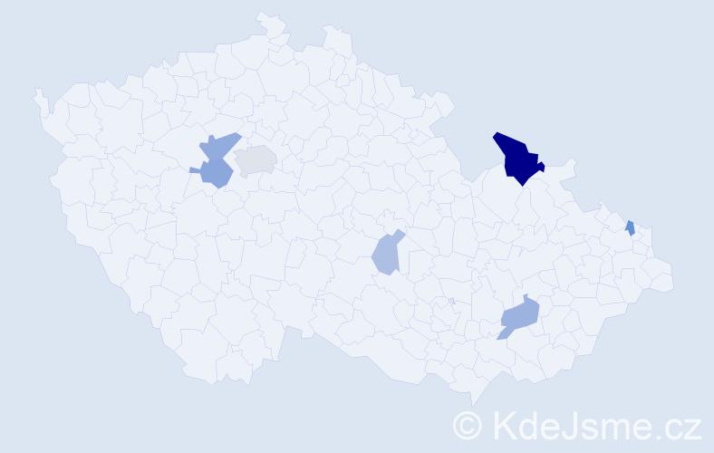 Příjmení: 'Klamert', počet výskytů 21 v celé ČR