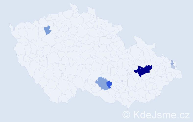 Příjmení: 'Gastová', počet výskytů 20 v celé ČR
