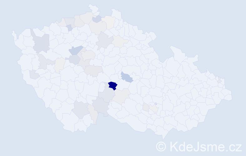 Příjmení: 'Kameš', počet výskytů 156 v celé ČR
