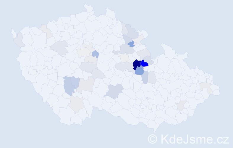 Příjmení: 'Fikejz', počet výskytů 142 v celé ČR