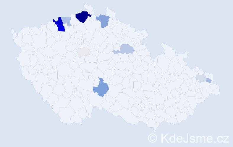 Příjmení: 'Drienová', počet výskytů 22 v celé ČR