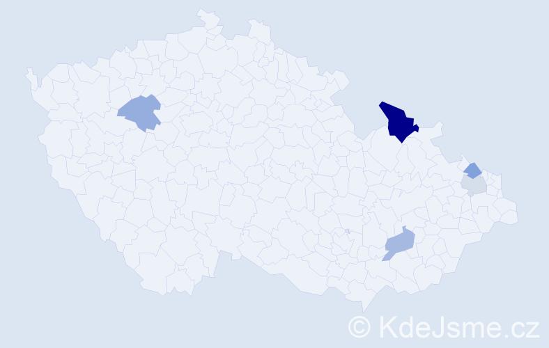 Příjmení: 'Brejzová', počet výskytů 8 v celé ČR