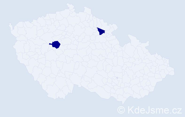 Příjmení: 'Gökçen', počet výskytů 3 v celé ČR