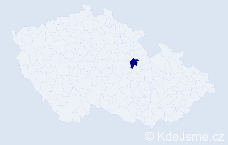 Příjmení: 'Batisová', počet výskytů 2 v celé ČR