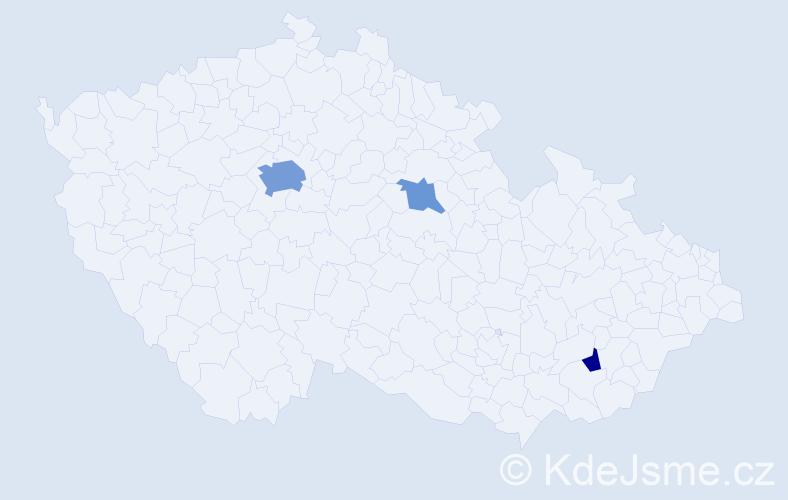 Příjmení: 'Fošnárová', počet výskytů 8 v celé ČR