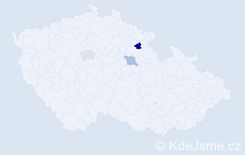 Příjmení: 'Leiskeová', počet výskytů 9 v celé ČR