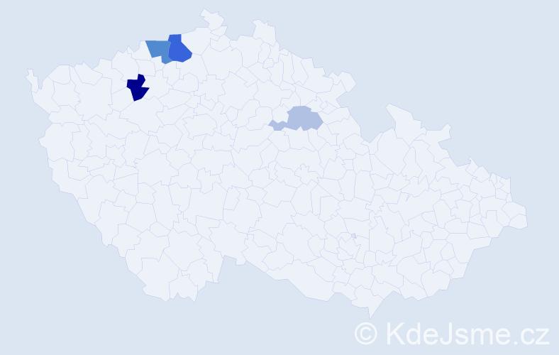 Příjmení: 'Kriechenbauer', počet výskytů 10 v celé ČR