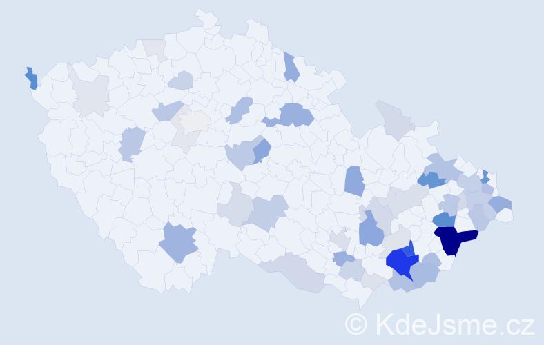 Příjmení: 'Hučík', počet výskytů 163 v celé ČR