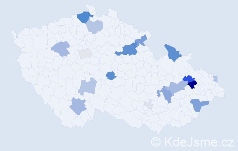 Příjmení: 'Baluchová', počet výskytů 33 v celé ČR