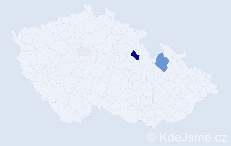 Příjmení: 'Kivoňová', počet výskytů 5 v celé ČR