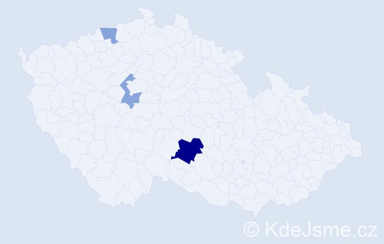 Příjmení: 'Indro', počet výskytů 6 v celé ČR