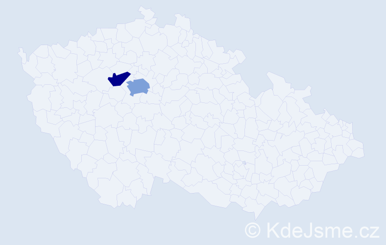 Příjmení: 'Beleda', počet výskytů 3 v celé ČR