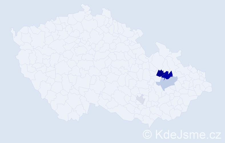 Příjmení: 'Harnay', počet výskytů 6 v celé ČR