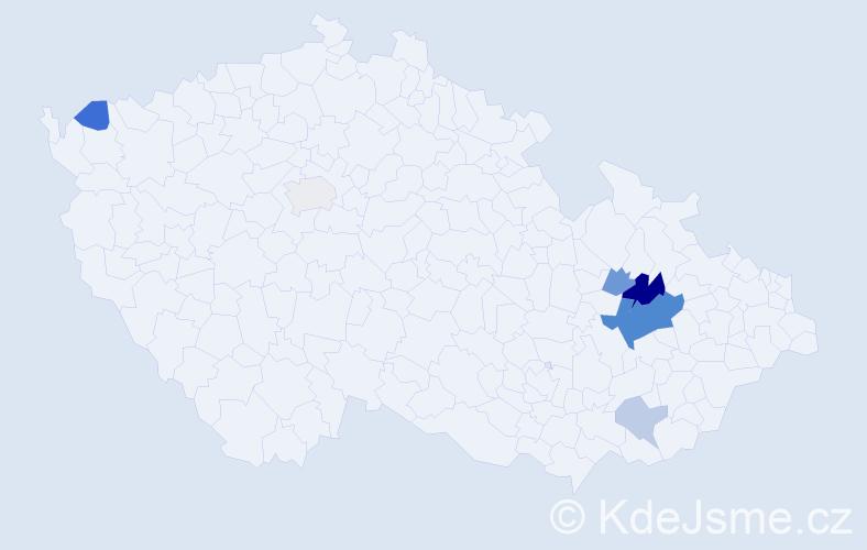 Příjmení: 'Čouka', počet výskytů 14 v celé ČR