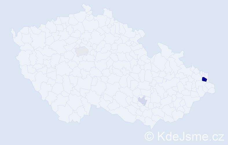 Příjmení: 'Hancock', počet výskytů 7 v celé ČR