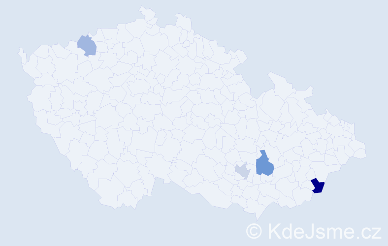 Příjmení: 'Banovský', počet výskytů 12 v celé ČR