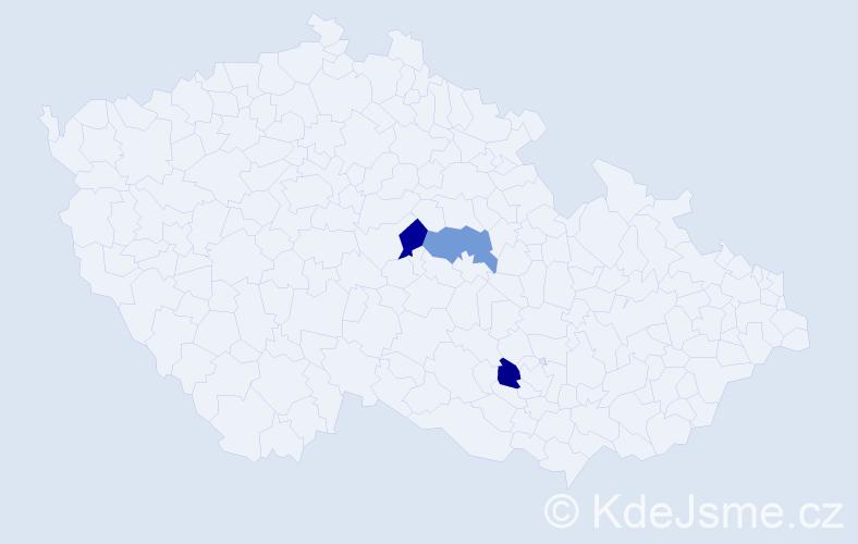 Příjmení: 'Gerenda', počet výskytů 3 v celé ČR
