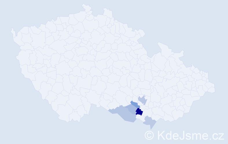 Příjmení: 'Judexová', počet výskytů 20 v celé ČR
