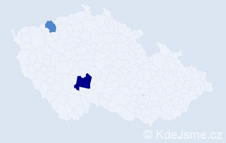 Příjmení: 'Jeczelewská', počet výskytů 3 v celé ČR