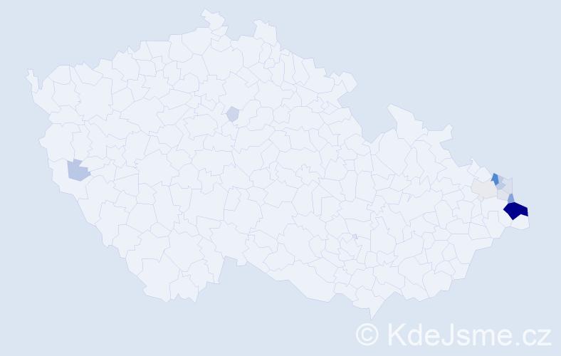 Příjmení: 'Hojdysz', počet výskytů 59 v celé ČR