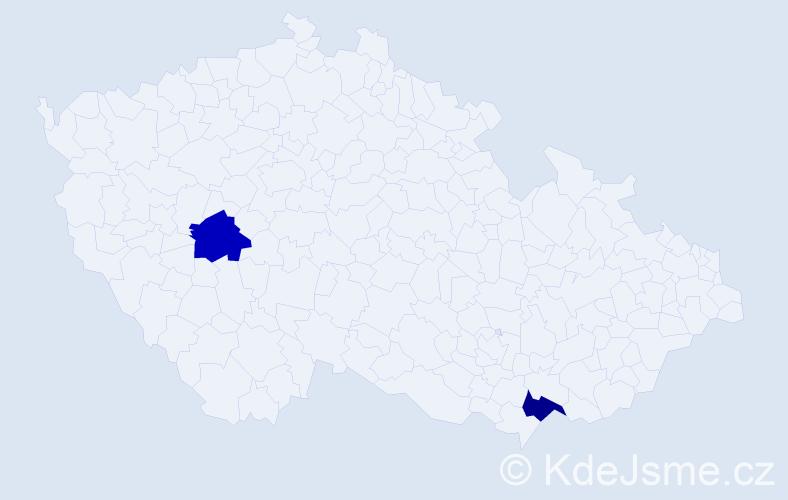 Příjmení: 'Flohsová', počet výskytů 2 v celé ČR