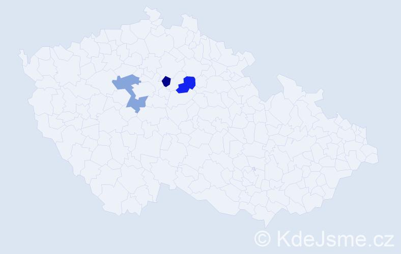 Příjmení: 'Kaschte', počet výskytů 4 v celé ČR