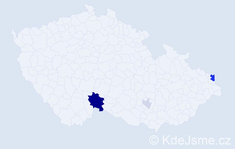 Příjmení: 'Csölleiová', počet výskytů 7 v celé ČR