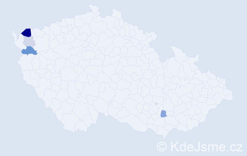 Příjmení: 'Hüller', počet výskytů 7 v celé ČR
