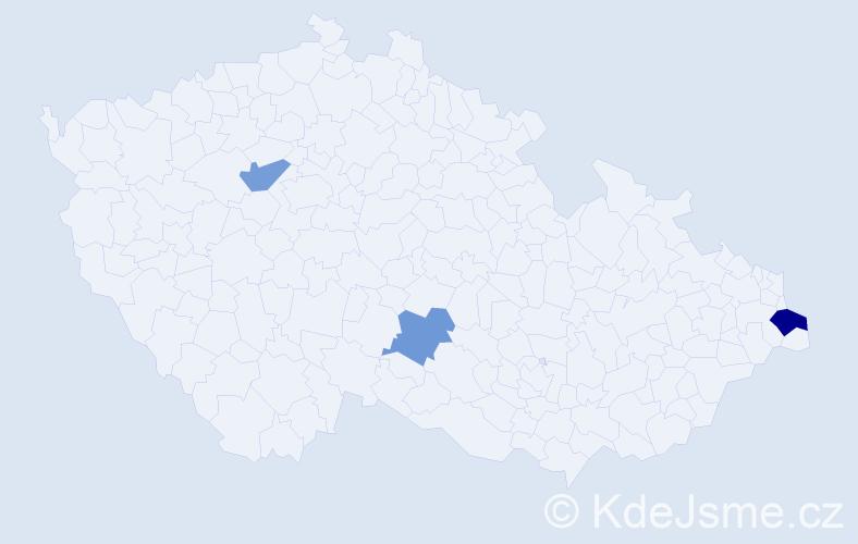 Příjmení: 'Čorňaková', počet výskytů 4 v celé ČR