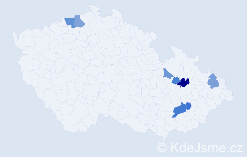Příjmení: 'Beutelová', počet výskytů 19 v celé ČR
