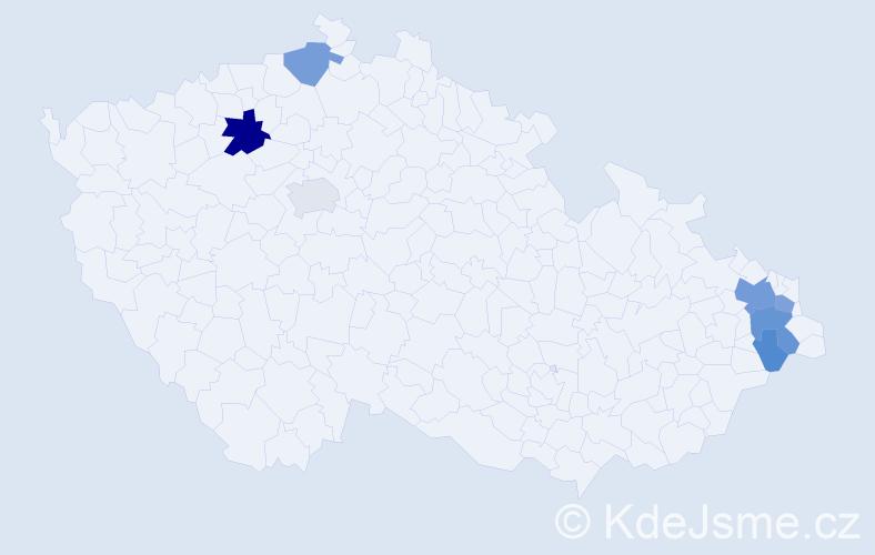 Příjmení: 'Leska', počet výskytů 20 v celé ČR