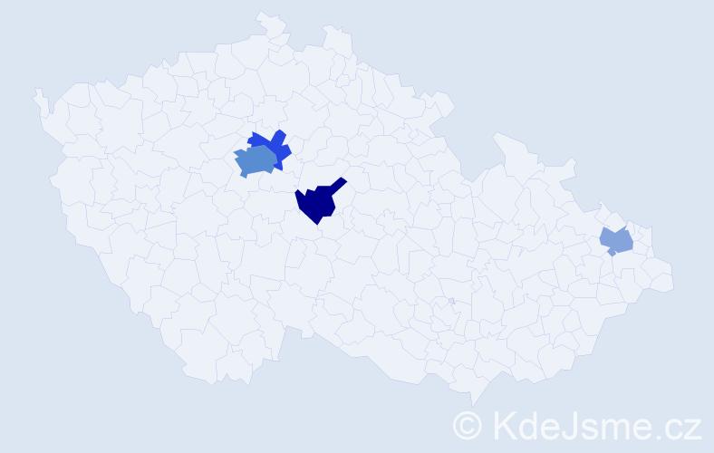 Příjmení: 'Baklová', počet výskytů 9 v celé ČR