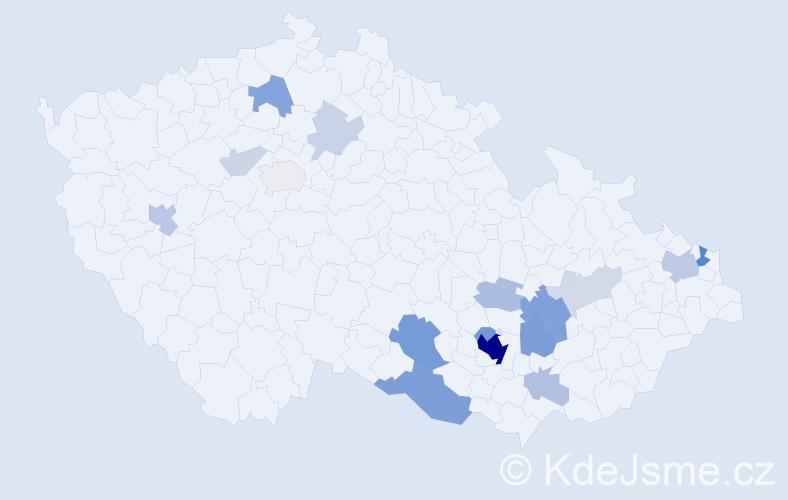 Příjmení: 'Dzurňák', počet výskytů 60 v celé ČR