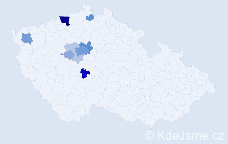 Příjmení: 'Flenerová', počet výskytů 37 v celé ČR