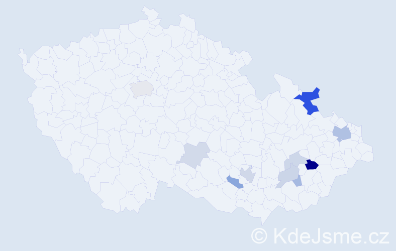 Příjmení: 'Drahotušská', počet výskytů 24 v celé ČR