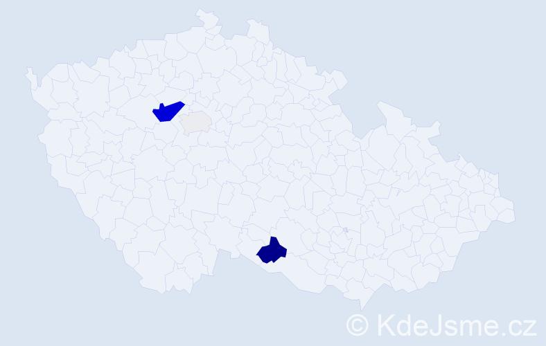 Příjmení: 'Habrdla', počet výskytů 14 v celé ČR
