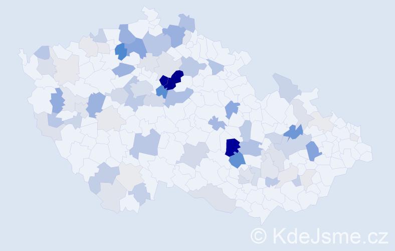Příjmení: 'Čepičková', počet výskytů 245 v celé ČR