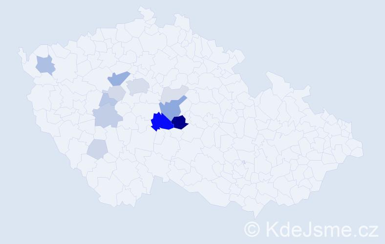 Příjmení: 'Drnovec', počet výskytů 40 v celé ČR