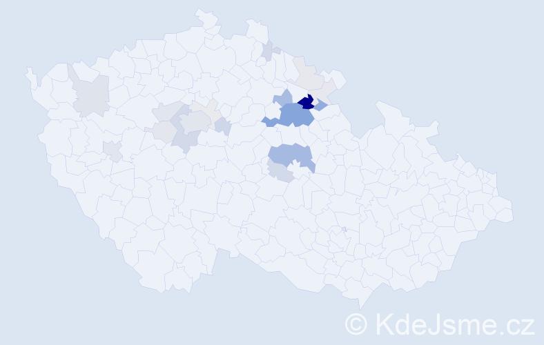 Příjmení: 'Lášková', počet výskytů 78 v celé ČR