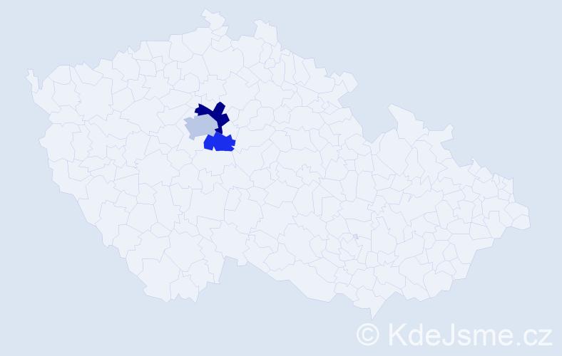 Příjmení: 'Kryhutová', počet výskytů 5 v celé ČR