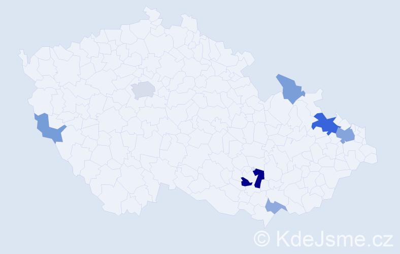 Příjmení: 'Engelhardt', počet výskytů 19 v celé ČR