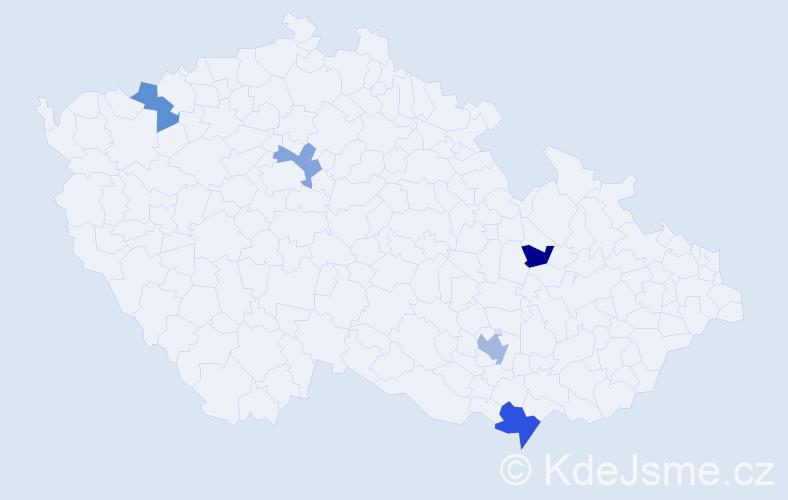 Příjmení: 'Babocký', počet výskytů 7 v celé ČR