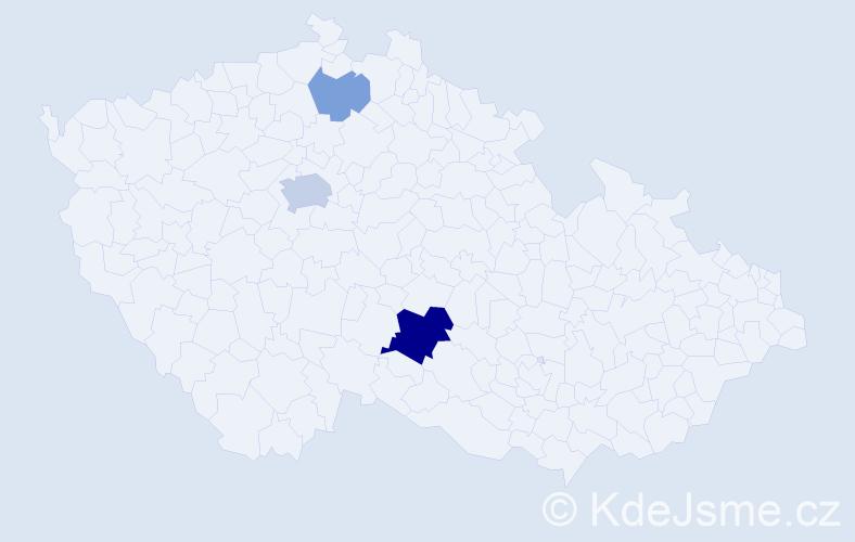 Příjmení: 'Duru', počet výskytů 8 v celé ČR
