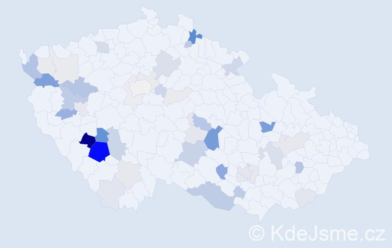 Příjmení: 'Pivnička', počet výskytů 136 v celé ČR