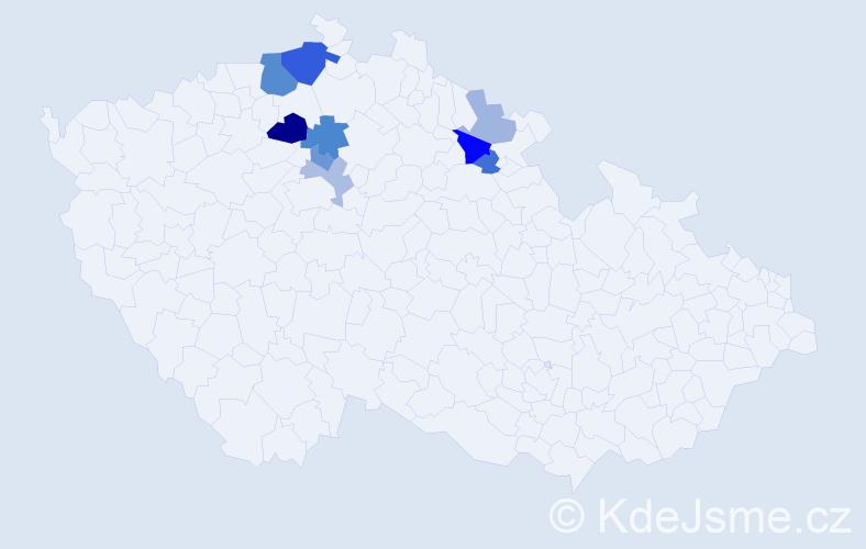 Příjmení: 'Fofonková', počet výskytů 19 v celé ČR