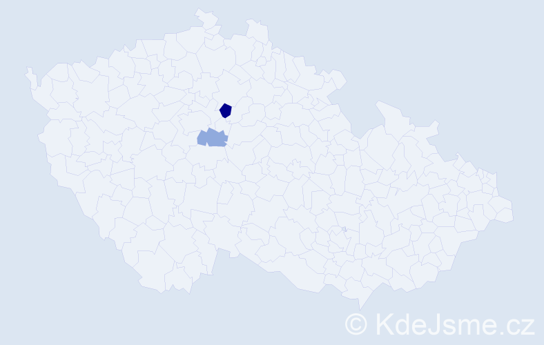 Příjmení: 'Izaides', počet výskytů 3 v celé ČR