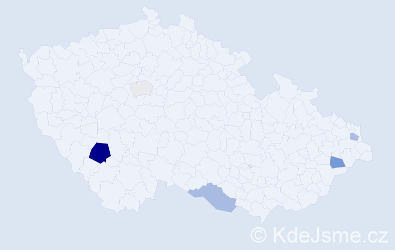 Příjmení: 'Imling', počet výskytů 8 v celé ČR