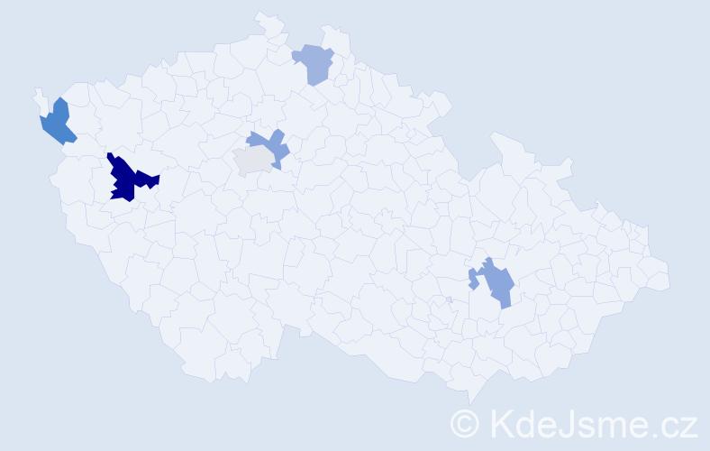 Příjmení: 'Engelmaierová', počet výskytů 17 v celé ČR